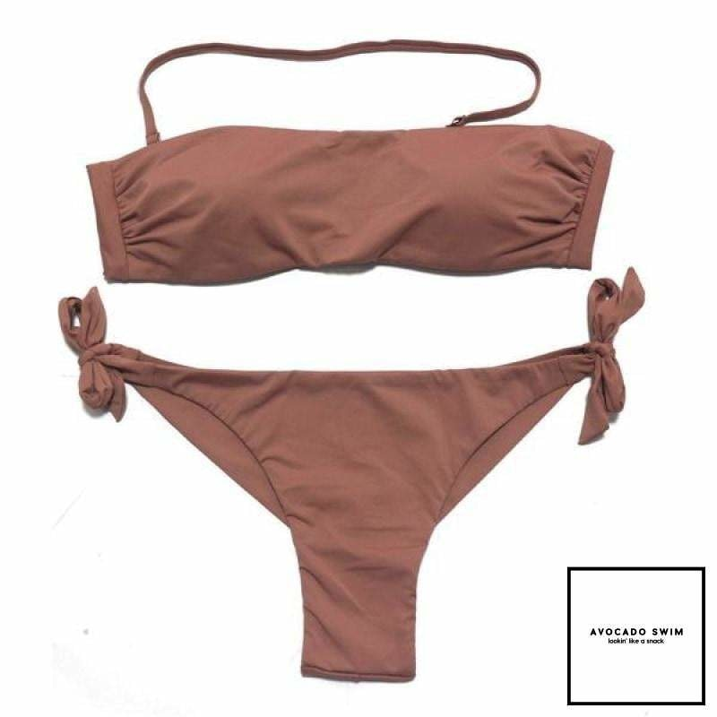Avo Bandeaux Mi Cheeky Set Brown / S Bikini