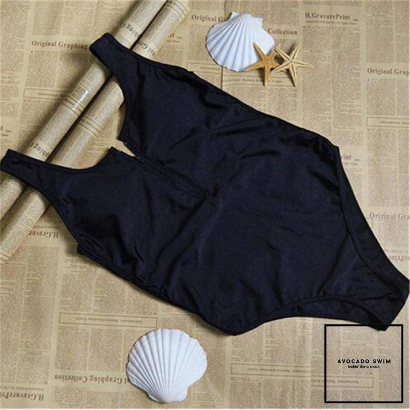 Avo Porscha Zip-Up Monokini Midnight Black / S One Piece