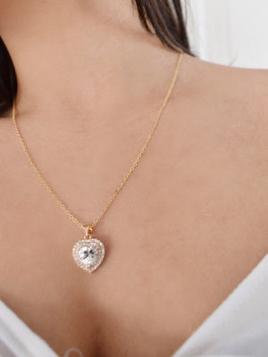 16k Gold Plated - The Anastasia Heart Pendant