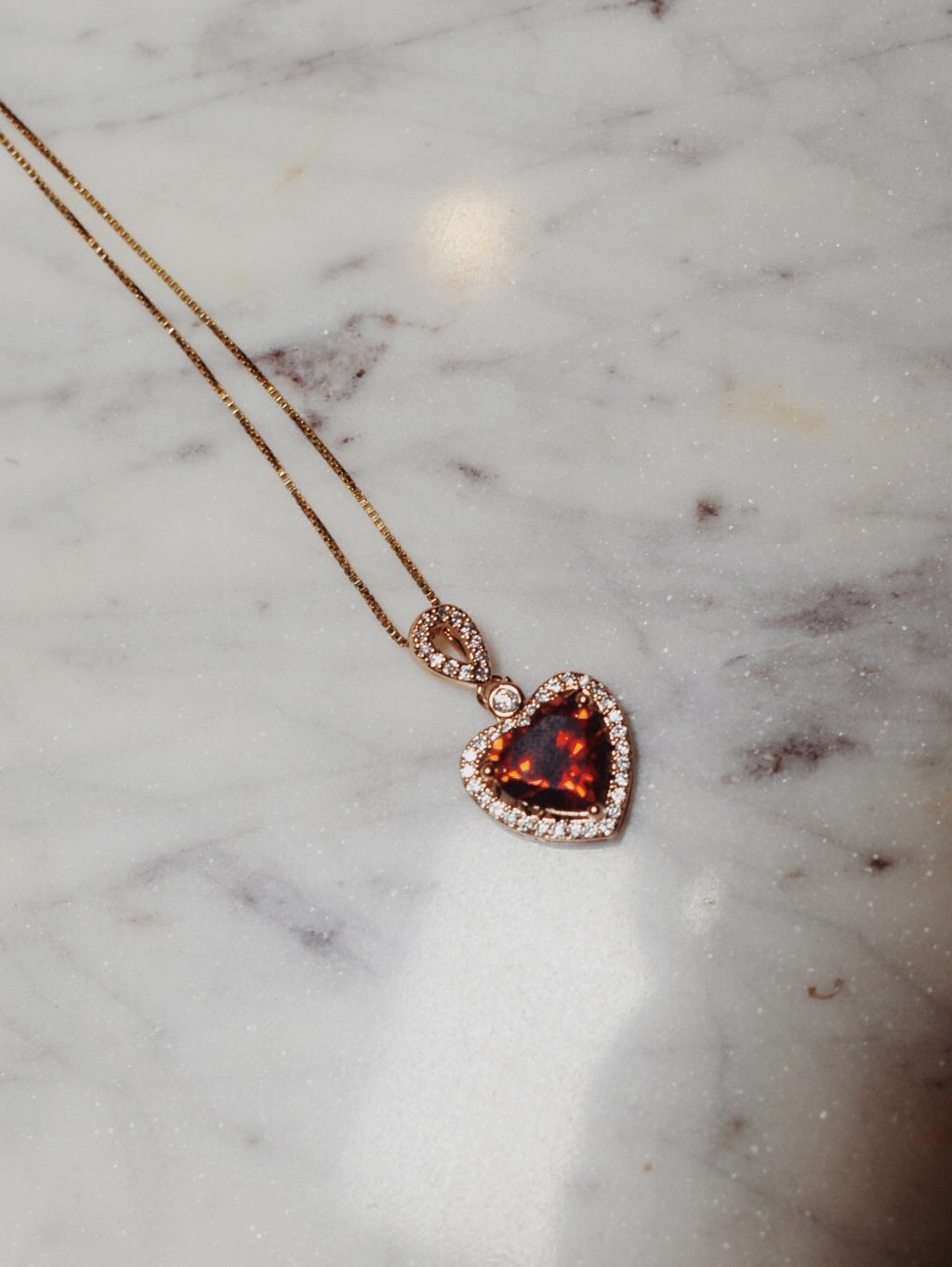The Alessia Heart of Fire Necklace- 14k Gold Filled