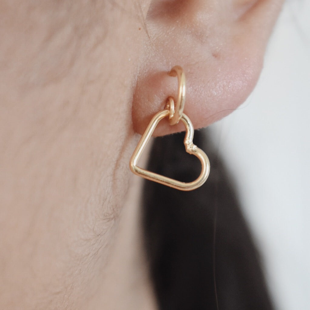 The Carolina Heart Earrings - 14k Gold Filled