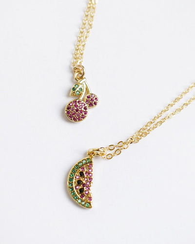 16k Gold Plated - The Lydia Fruit Necklace Set