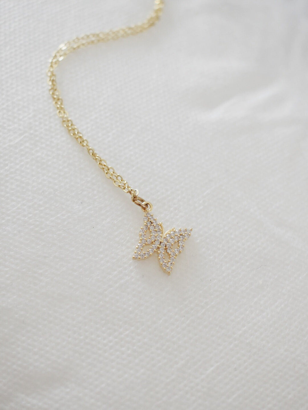 16k Gold Plated Avery Butterfly Necklace
