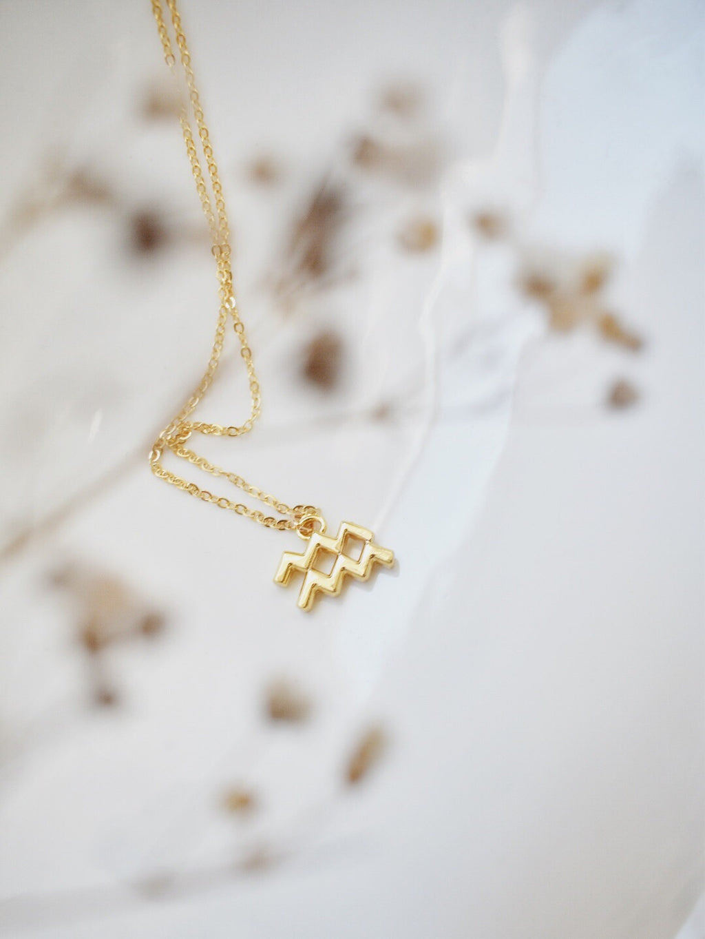 Written in the Stars Zodiac Necklace- 16k Gold Plated
