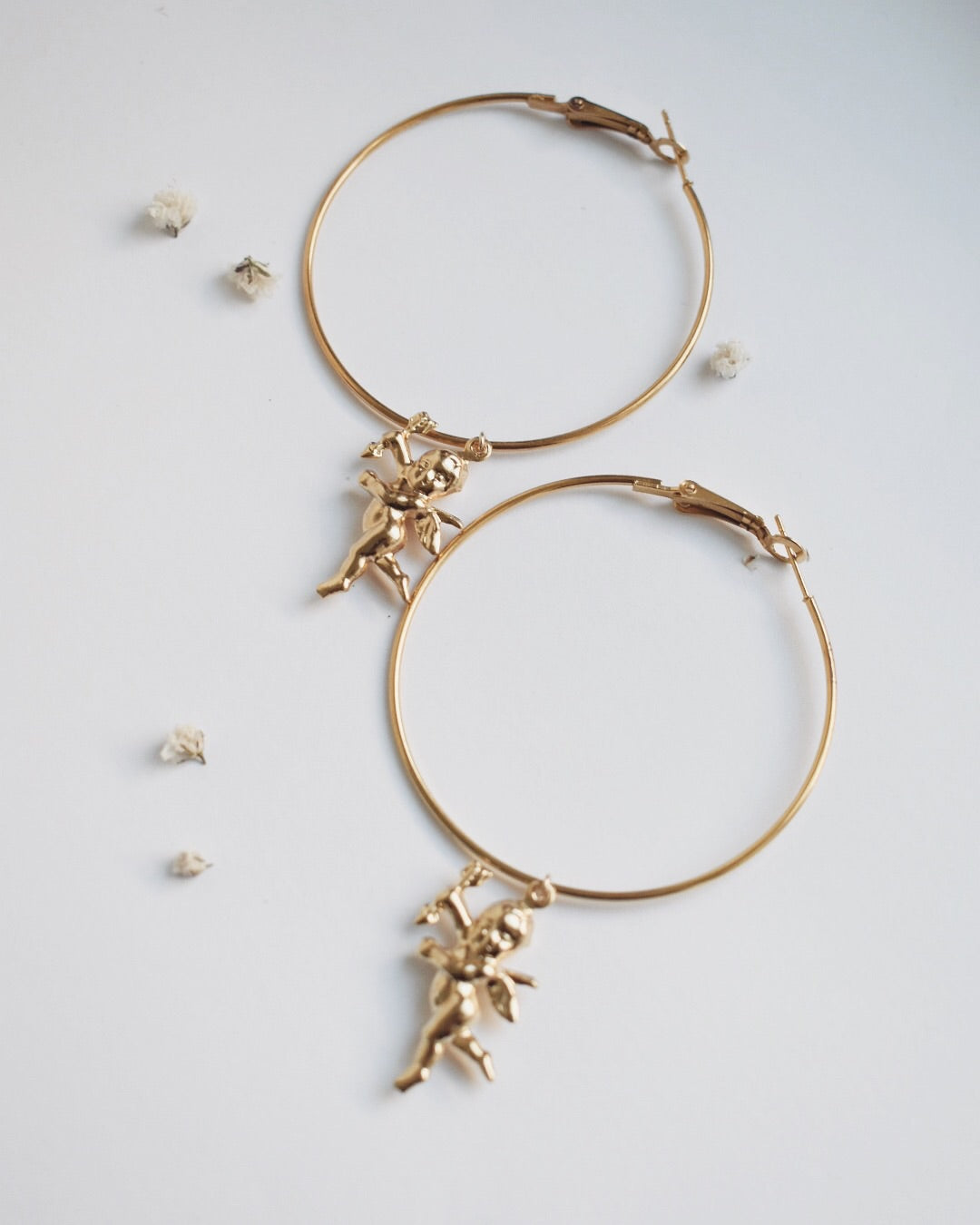 Charlotte's Angels Hoop Earrings