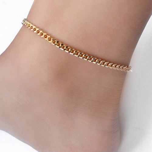 Lola Flat Curb Chain Anklet