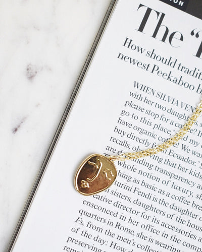 16k Gold Plated - The Rosalie Face Pendant