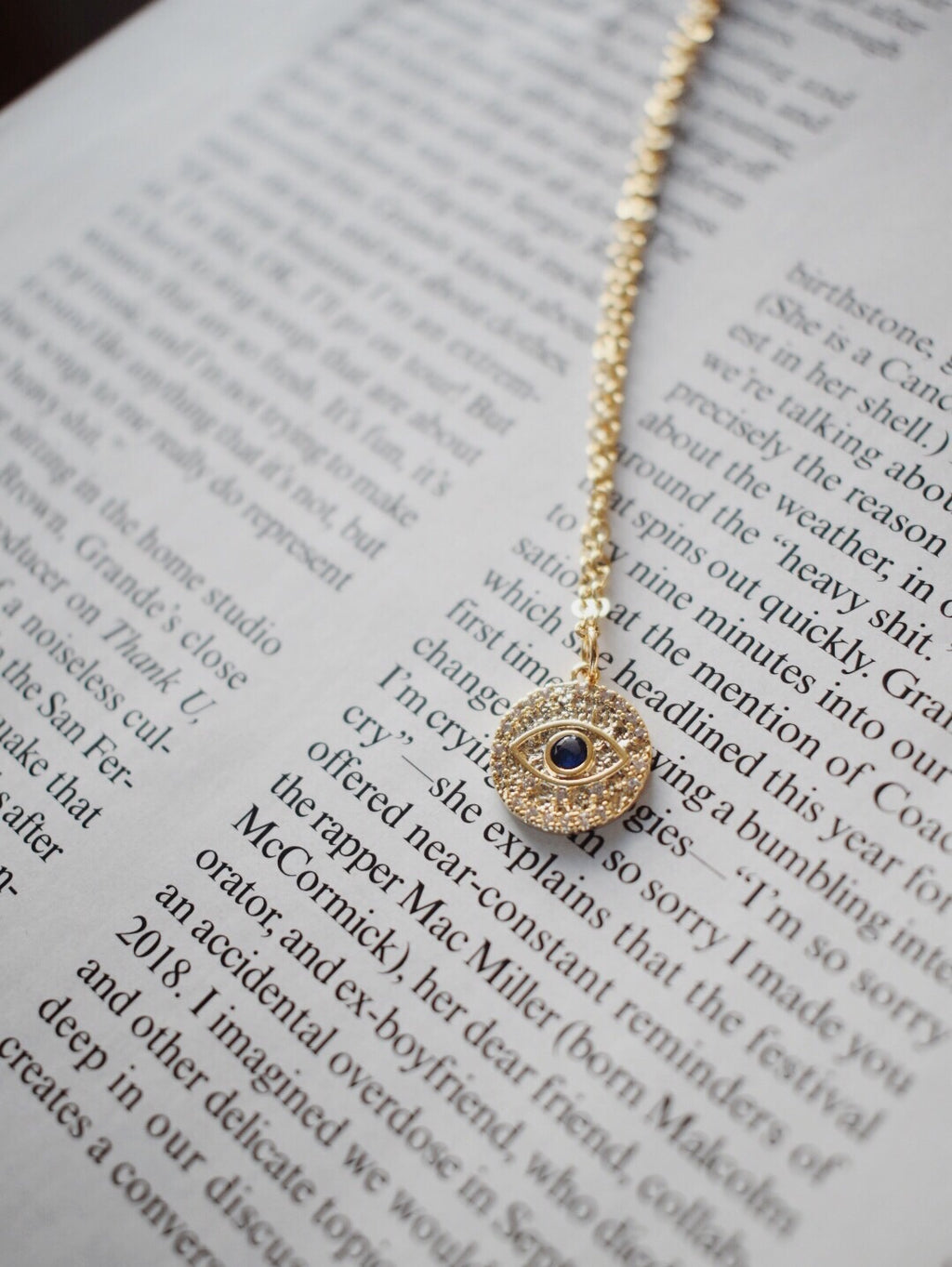 The Isla Dainty Evil Eye - 16k Gold Plated