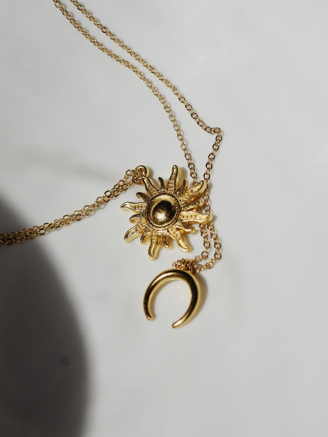 The Mila Sun & Moon Set - 16k gold plated