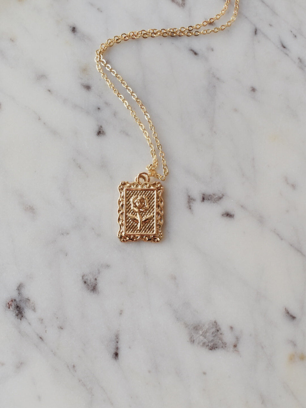 The Paris Rose Necklace 16K Gold Plated
