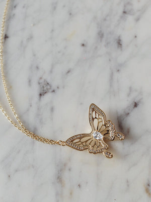 The Violeta Butterfly Necklace - 16k Gold Plated