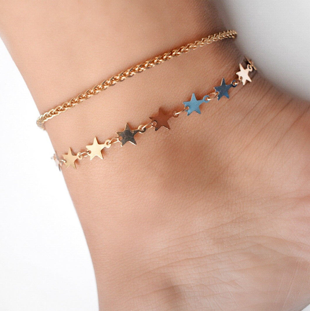 Camila Star Duo Anklet