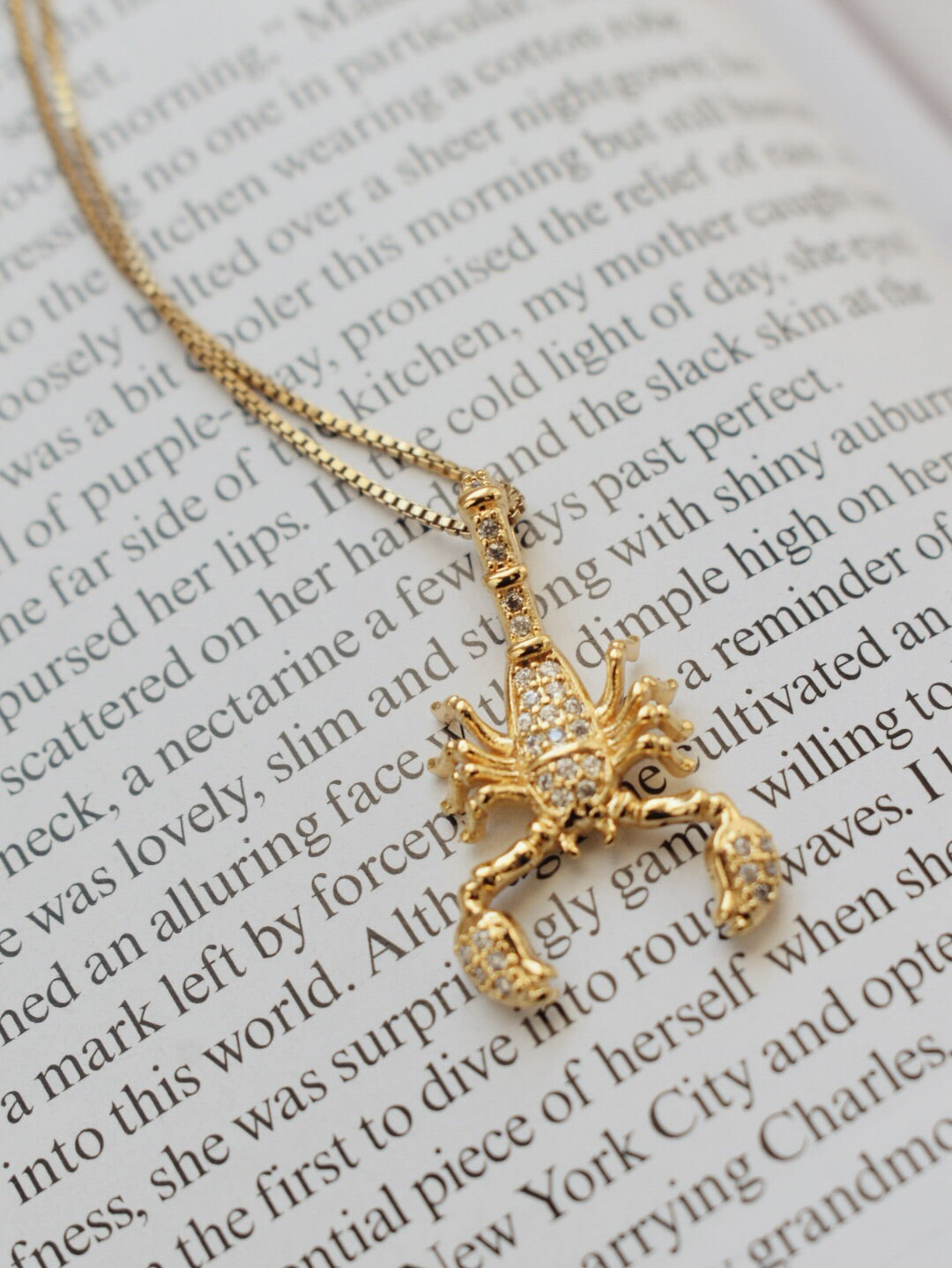 The Aubrey Scorpion Necklace - 14k Gold Filled
