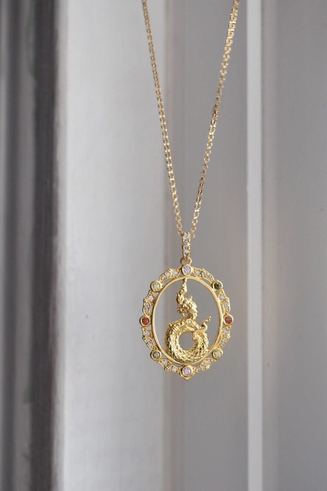 The 14k Gold Filled Kaia Dragon Pendant