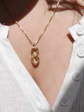 Bamboo Initial 14k Gold Filled Necklace