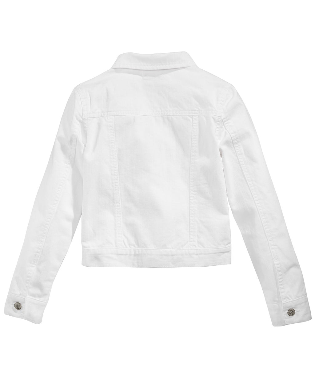 Kids Custom White Denim Jacket