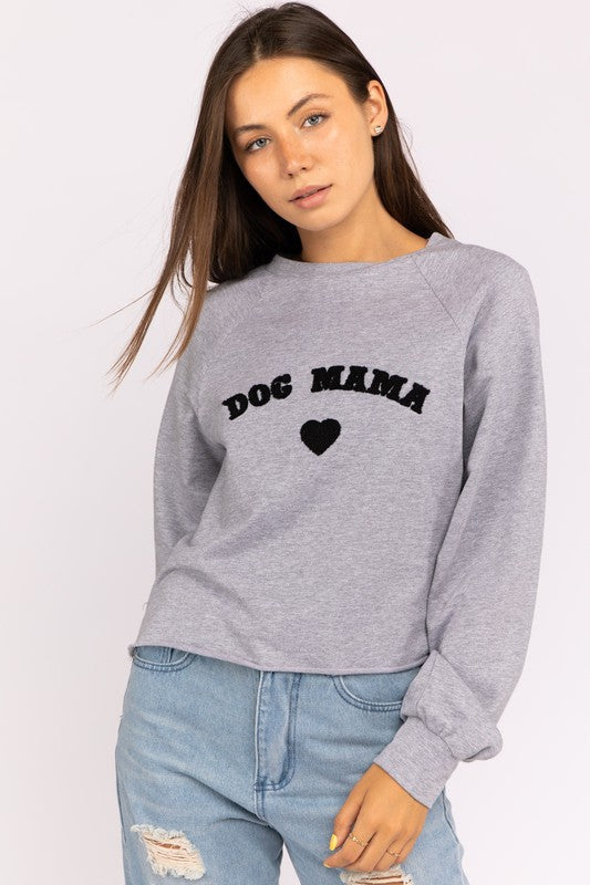 Dog Mama Cropped Crewneck