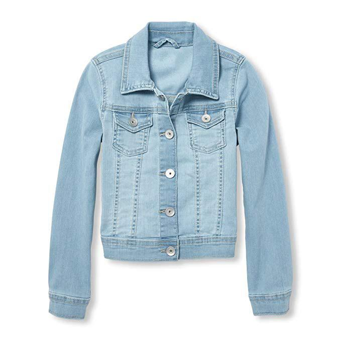 Kids Custom Light Wash Denim Jacket