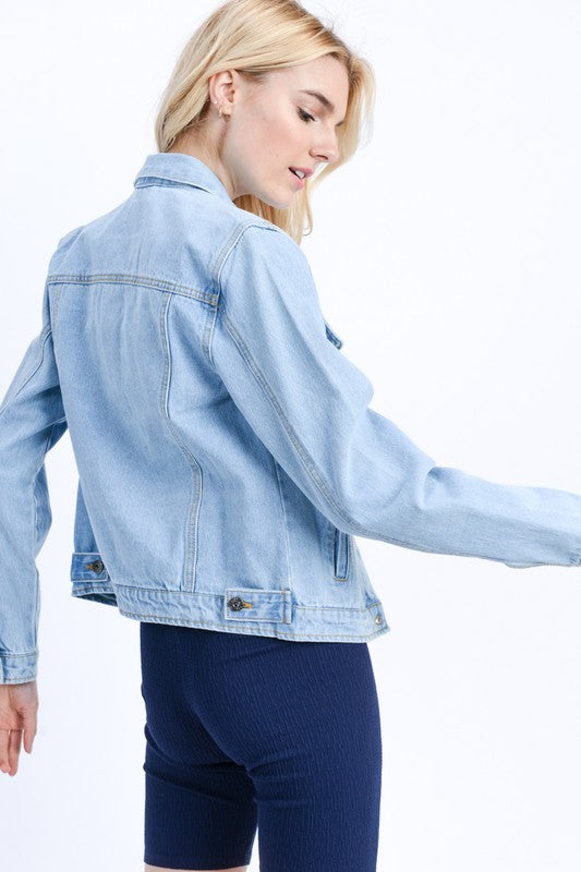 Custom Light Wash Denim Jacket