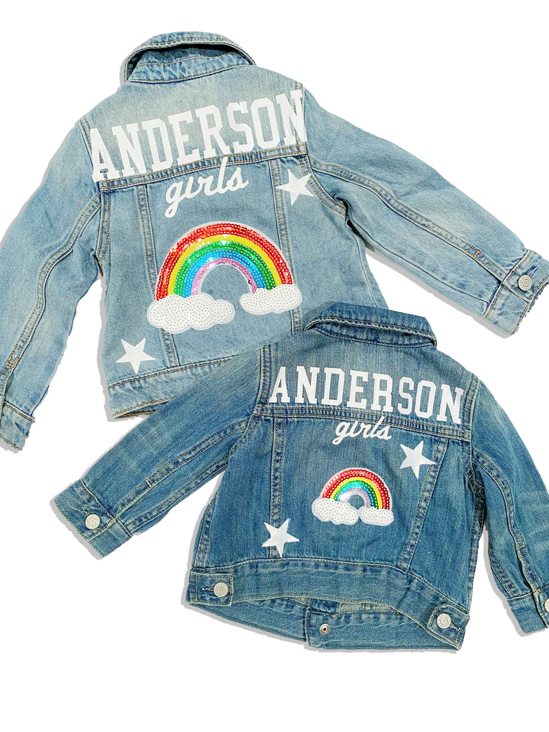 Over the Rainbow Kids Denim Jacket