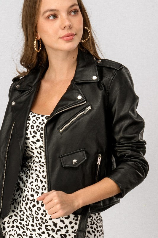 Custom Black Leather Jacket