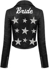Starry Eyed Bride Black Leather Jacket
