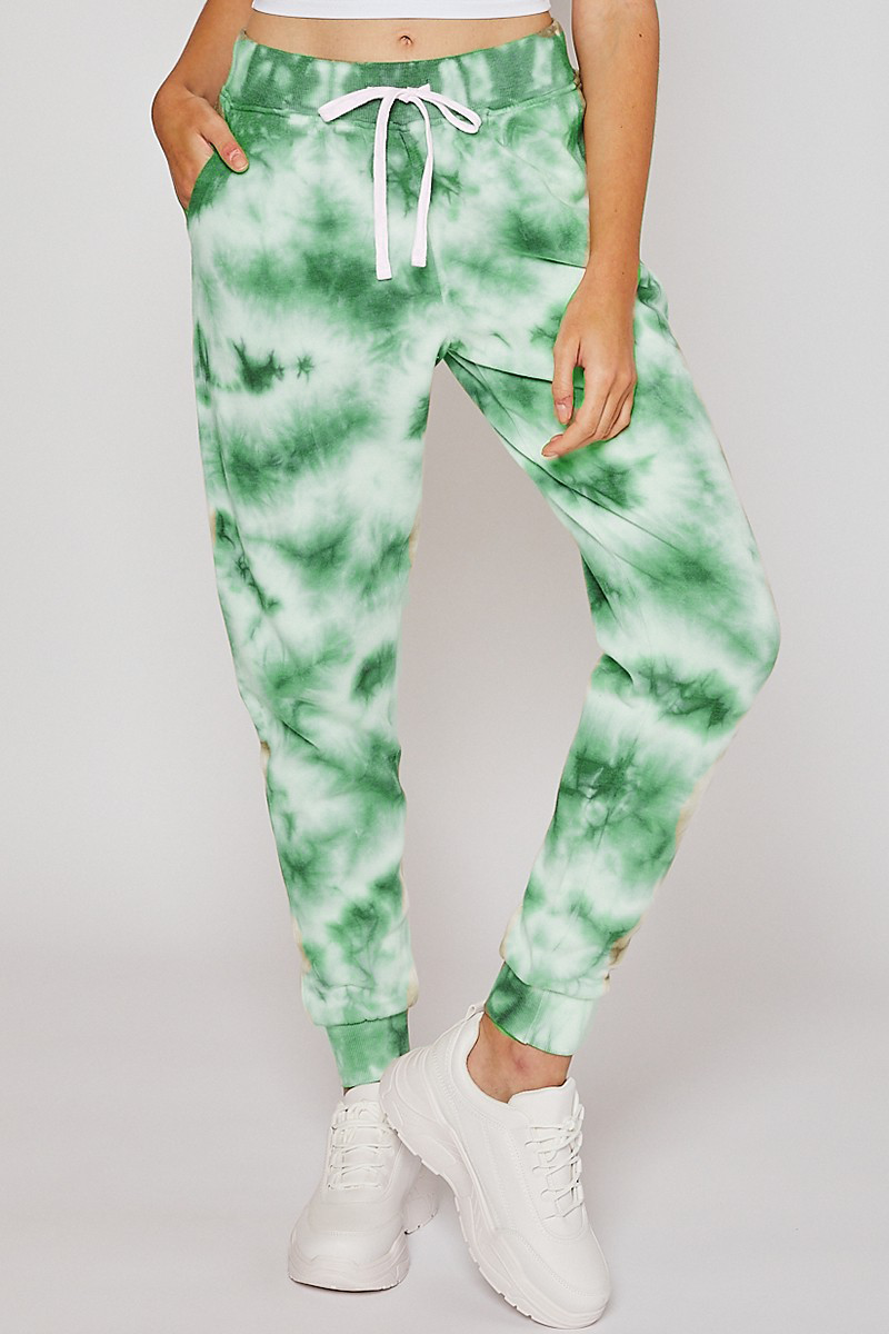 Green Adult Hand Dyed Pants