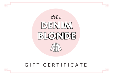 The Denim Blonde Gift Card
