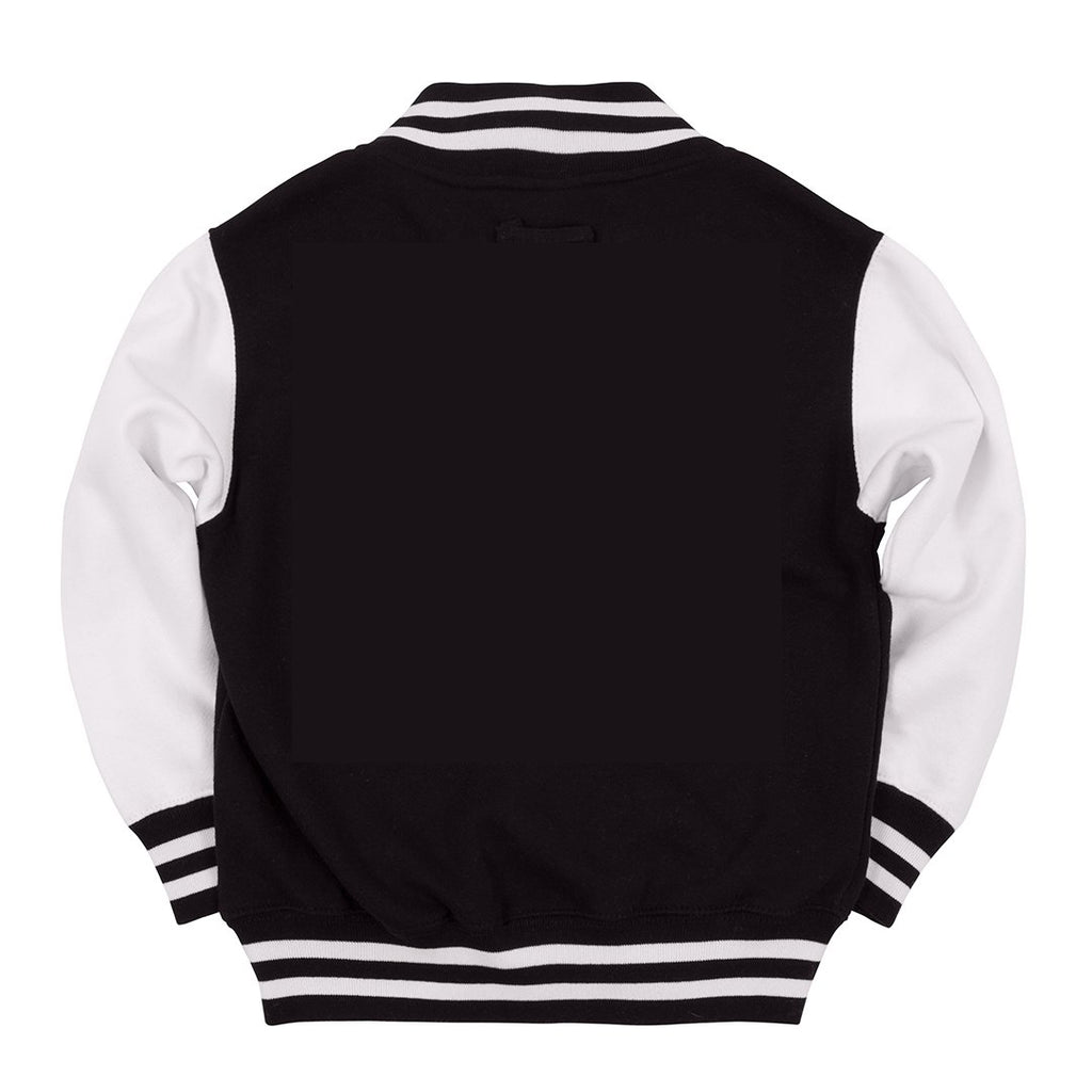 Kids Custom Black Varsity Jacket