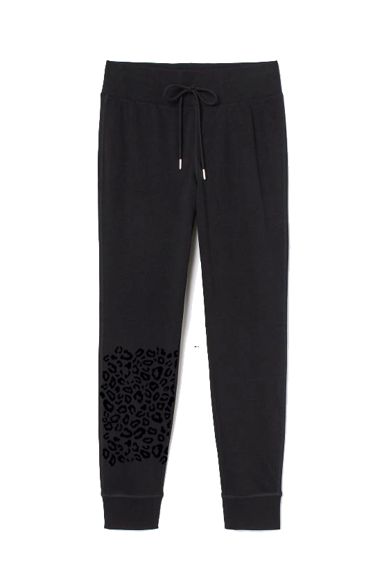 Velvet Cheetah Jogger Sweatpants