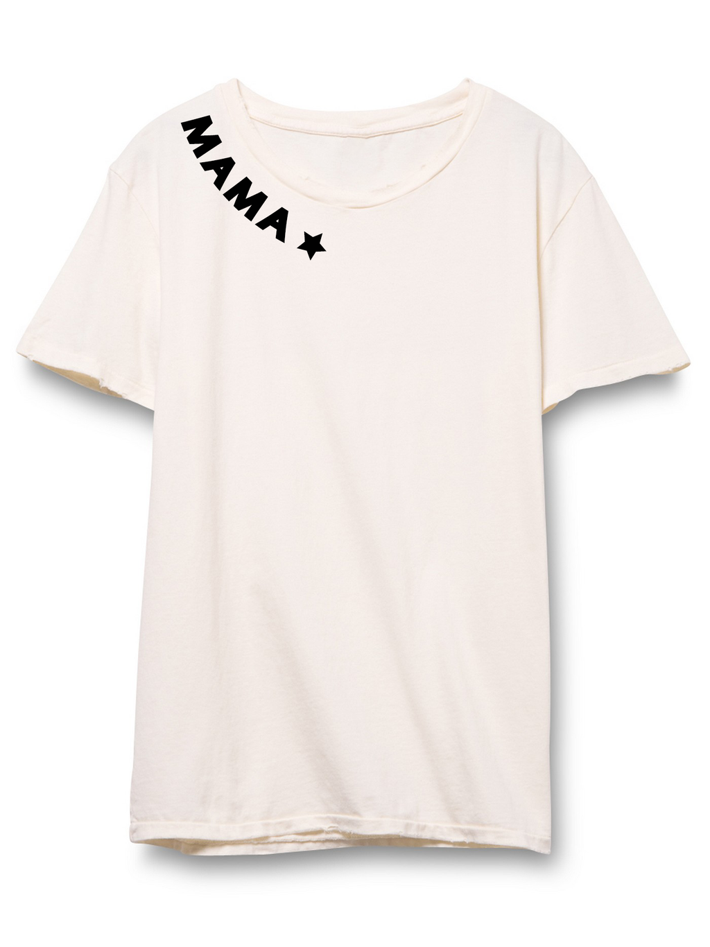 Mama Distressed Short Sleeve Tee