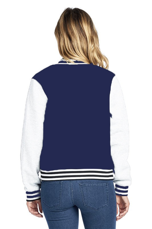 Custom Navy and White Varsity Jacket