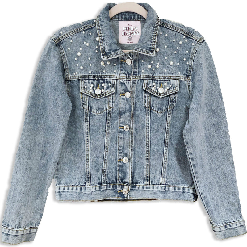 Custom Pearl Denim Jacket