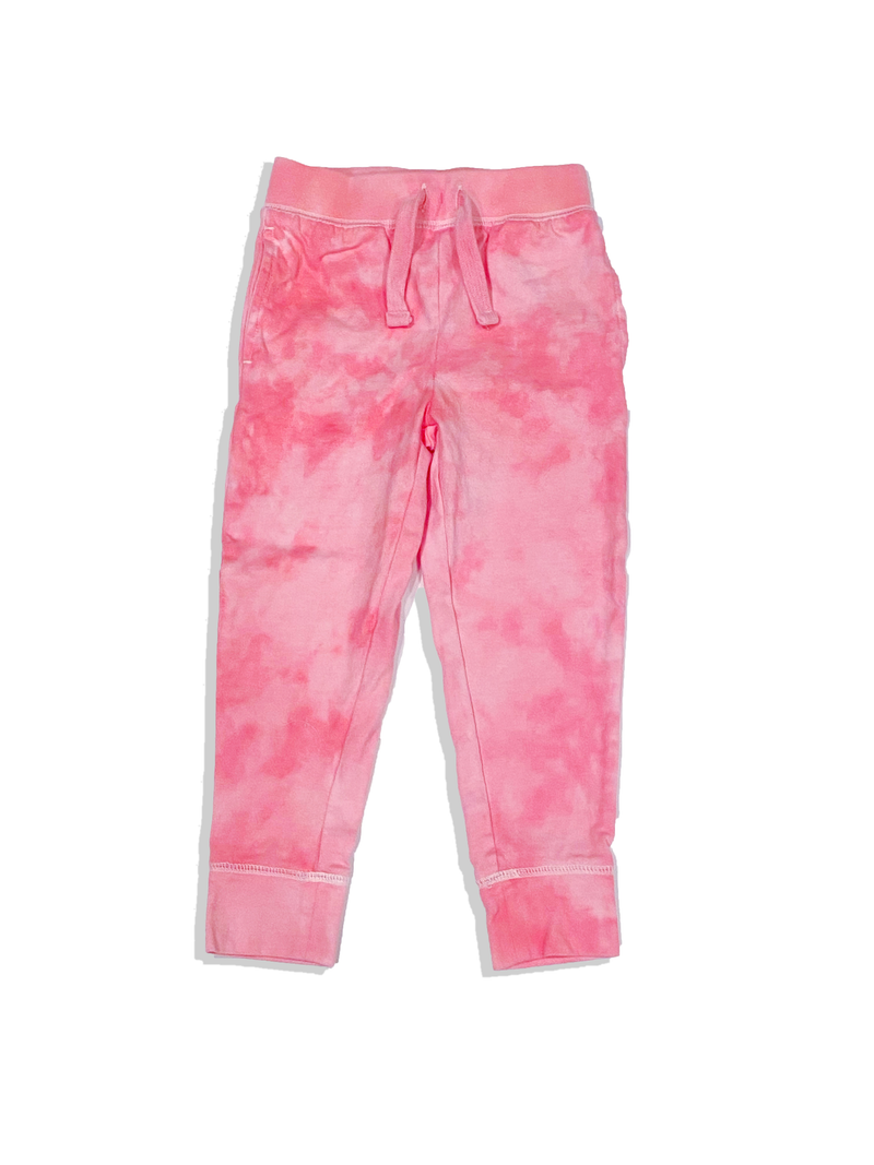 Kids Pink Sorbet Hand Dyed Joggers