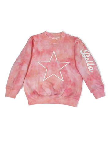 Lightning Strike Hand Dyed Crewneck