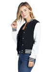 Custom Black and White Varsity Jacket