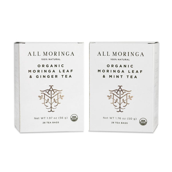 All Moringa - Premium Organic Moringa Leaf Herbal Tea USDA Certified 28 Tea Bags