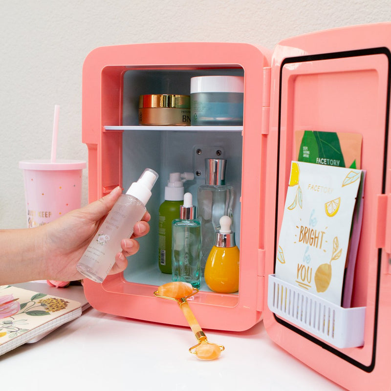 Mini Beauty Fridge (Coral)