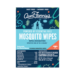 DEET Free Mosquito Repellent Wipes- Aunt Fannie's