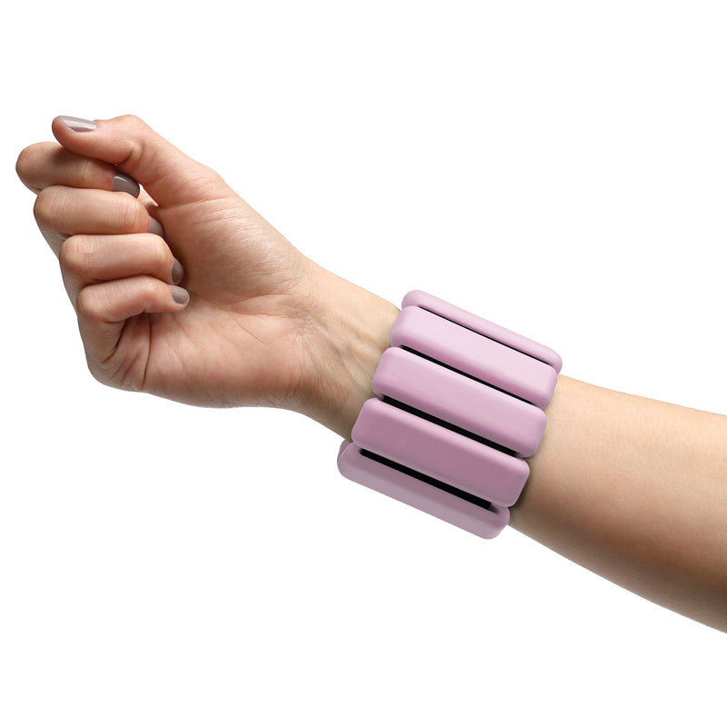 Fitness wrist weights in pink
