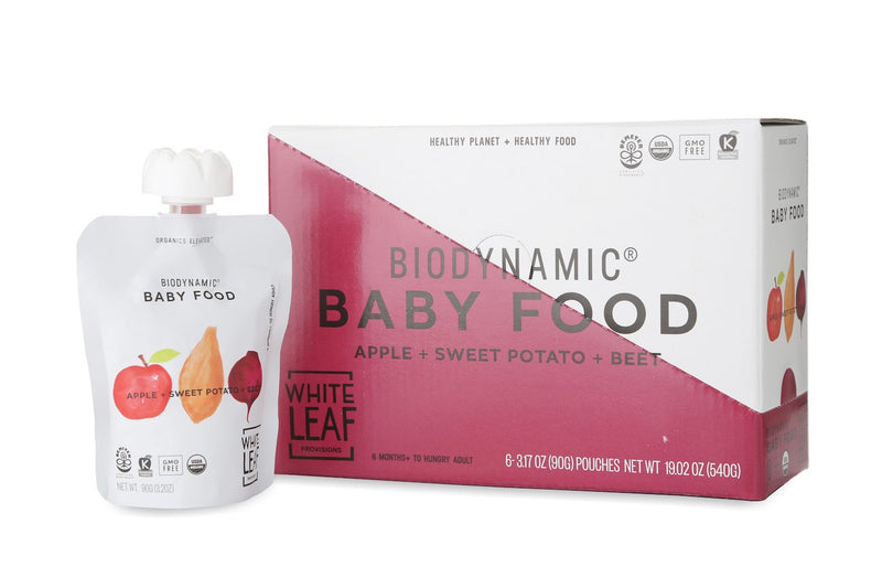 Biodynamic Organic Baby Food Apple + Sweet Potato + Beet — Carton of 6 (90g) pouches