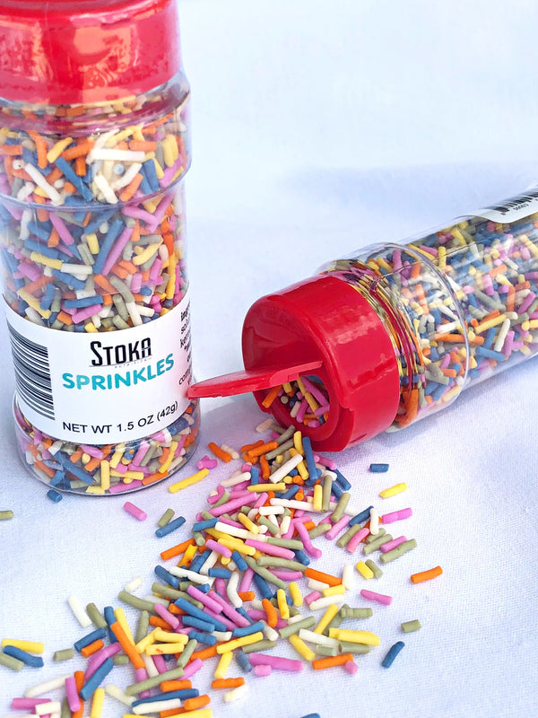 Stoka Rainbow Sprinkles 1.5oz - sugar free