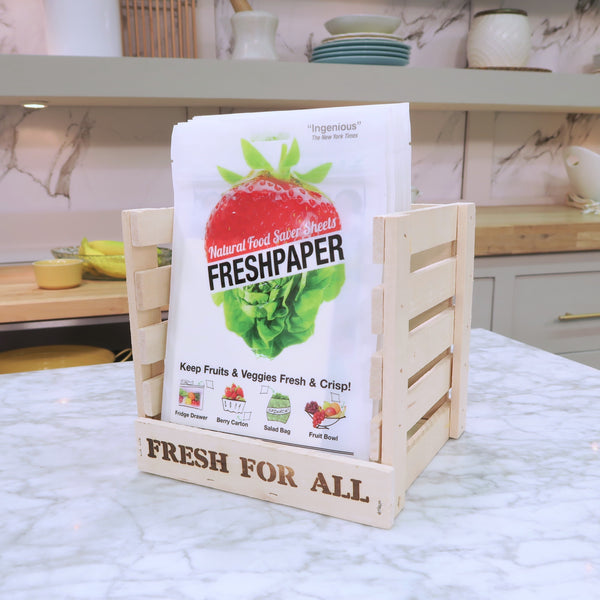 The FRESHGLOW Co. - FRESHPAPER Food-Saver Sheets Display Crate