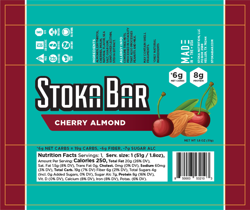 Cherry Almond Stoka Bar