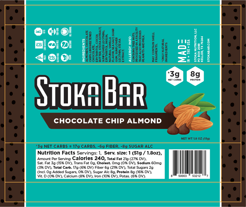 Chocolate Chip Almond Stoka Bar