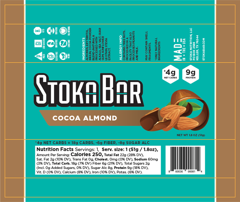 Cocoa Almond Stoka Bar