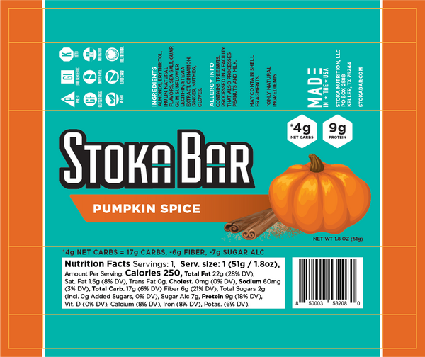Pumpkin Spice Stoka Bar