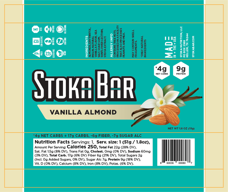 Vanilla Almond Stoka Bar
