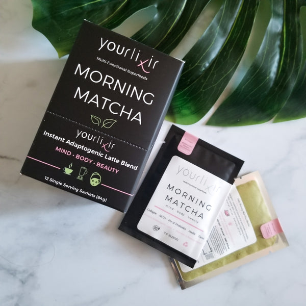 Adaptogenic Morning Matcha Travel Sachets (collagen + probiotics)
