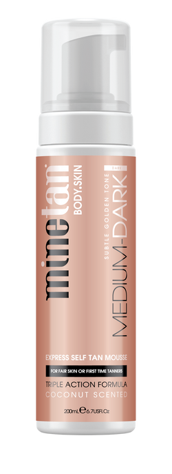 MineTan Medium Dark Self Tan Mousse